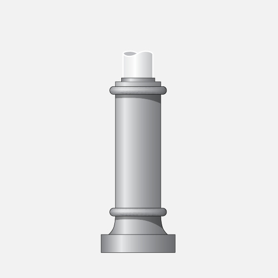 for use with round hinged base poles