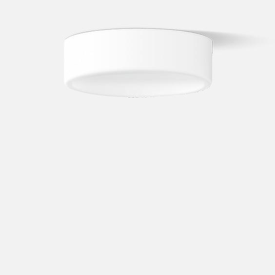 Semi-recessed ceiling luminaire